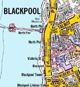 Blackpool A Z Wall Map A Z Wall Maps Pinterest Wall maps