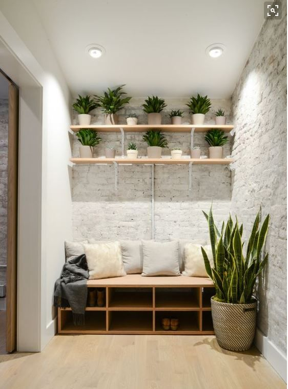 Storage Bench With Shoe Seating And Shelves Above