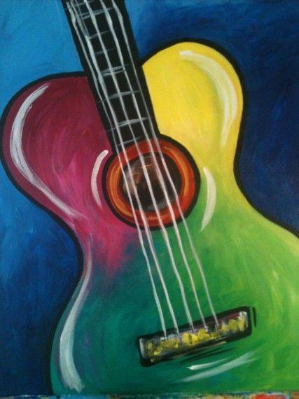 Guitar Tuval Resimleri Resim Akrilik Tuval