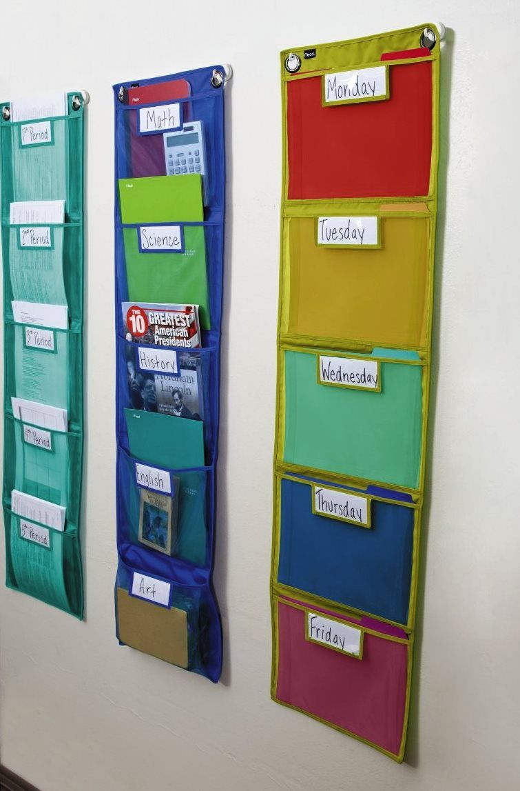 mead classroom wall pockets from amazon and office supply stores