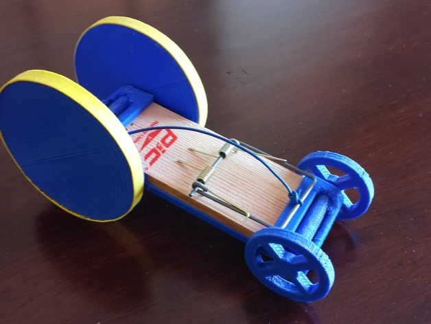 This Is A 3d Printed Mouse Trap Racer Which Demonstrates The