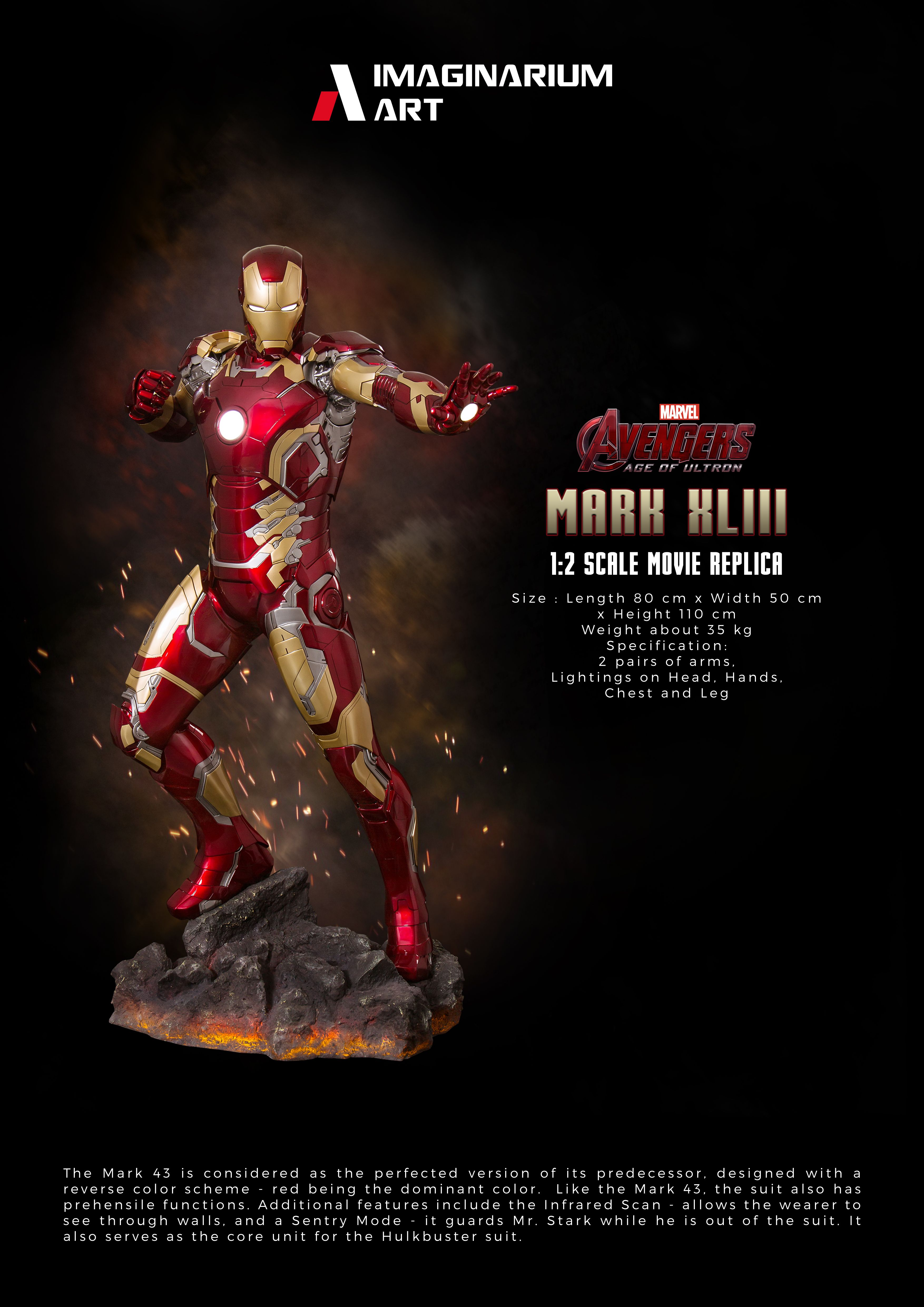 Iron Man Mark 43 1 2 By Imaginarium Art Art Movie Replica Statue