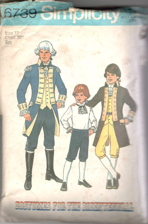 Simplicity 6739 Teen Boys Patriotic Costume Pattern by mbchills ...