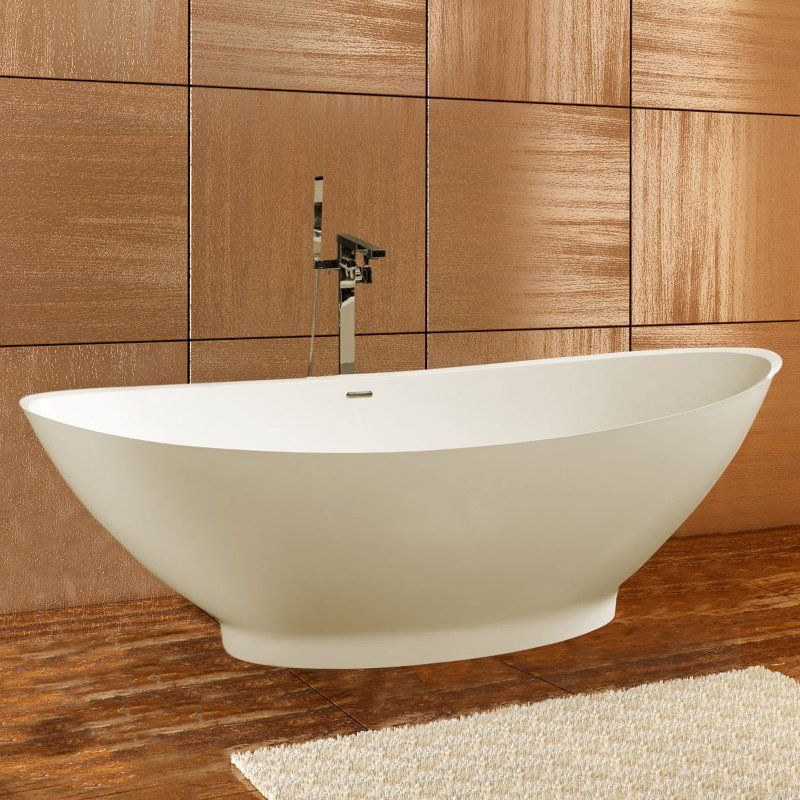 Aquatica PureScape 621M Freestanding Solid Surface Bathtub - Fine Matte - PS621M-WHT