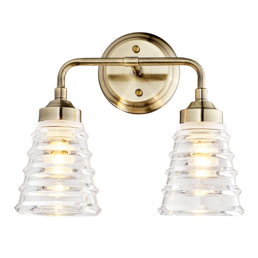 Varaluz Amherst 2 Light Antique Brass Bath Light 313b02ab In 2020