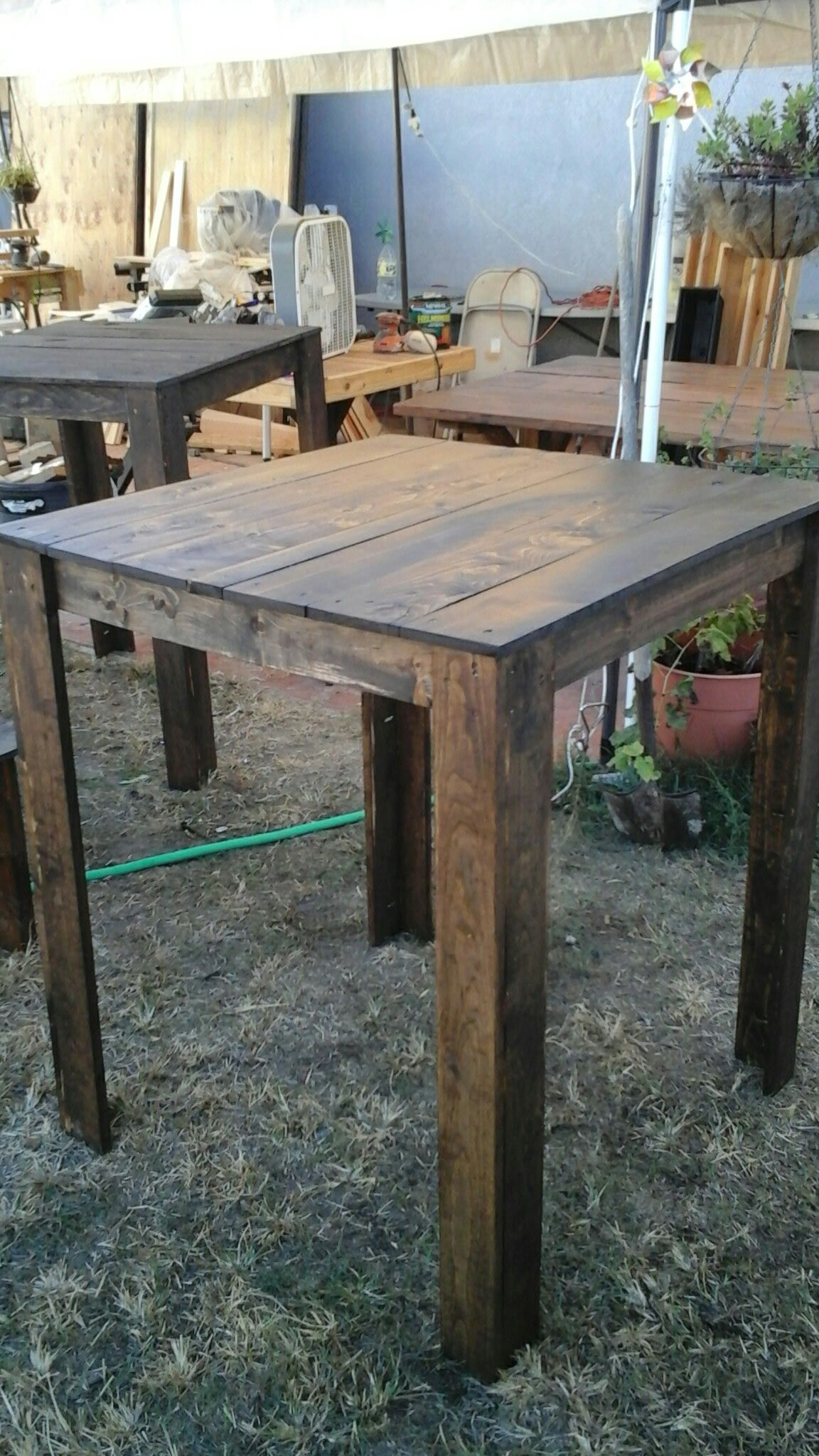 42inch Tall Bar Table That Is 3ft Square Dining Table Rustic