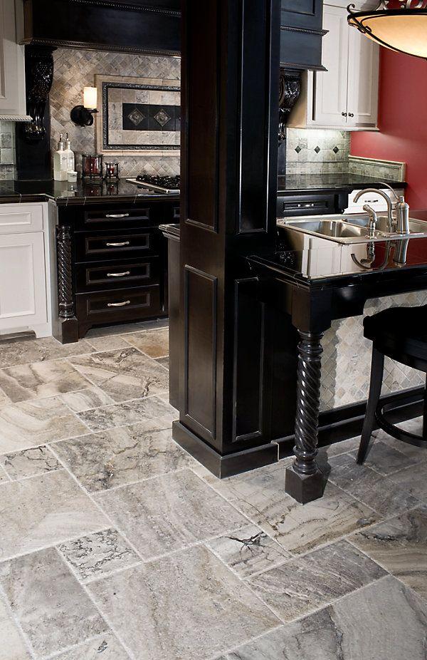 Silver Travertine Floor Home Ideas Pinterest Kitchen Flooring
