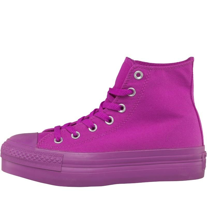 4384c9b05f75 Converse Womens CT All Star Hi Platform Mono Trainers Purple