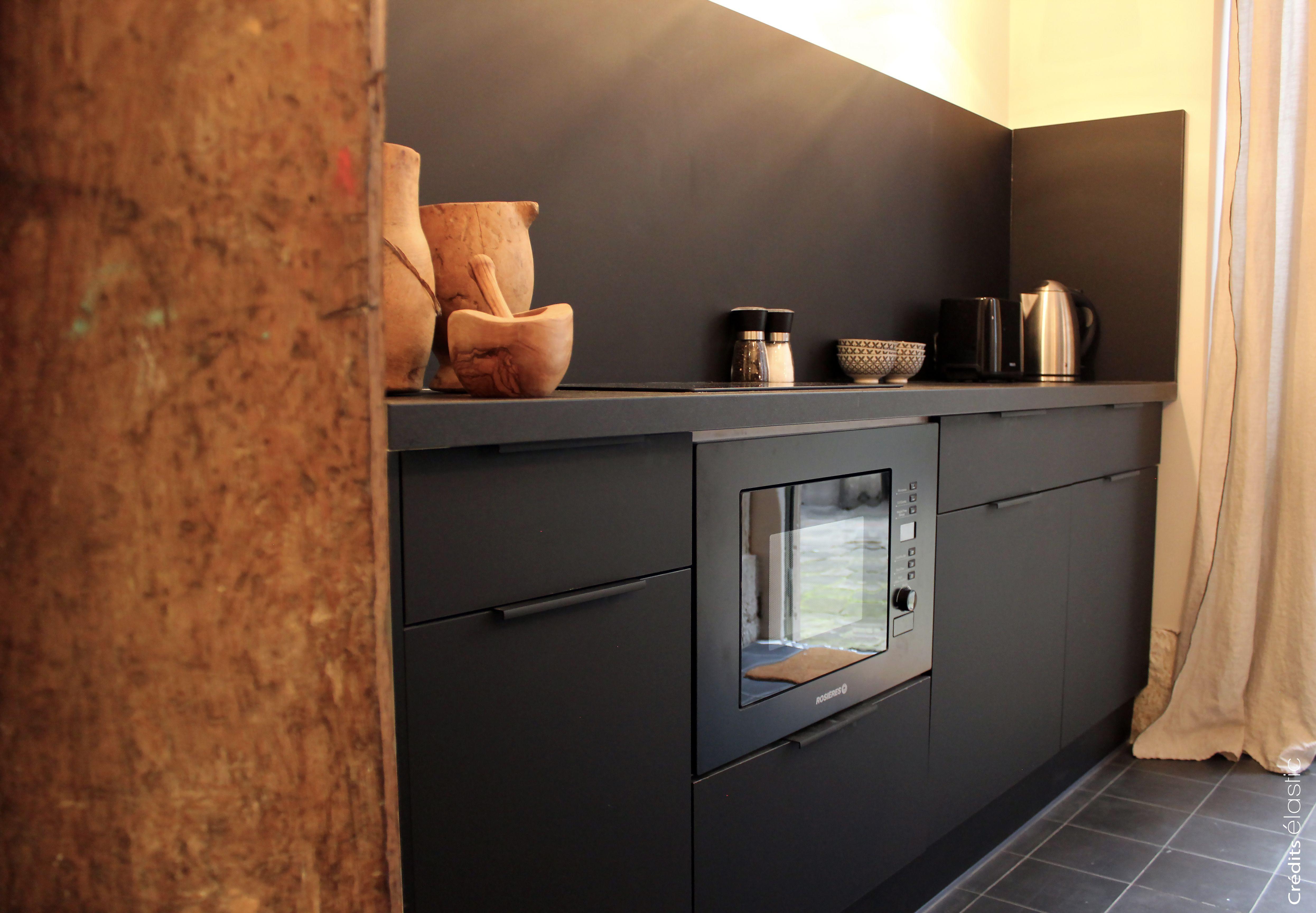 Cuisine couleur noir mat cuisine et cr dence leroy - Credence adhesive cuisine leroy merlin ...