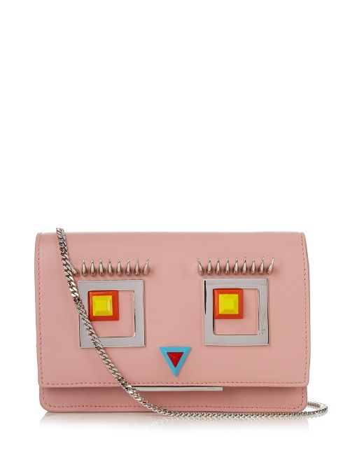 773478ee913c ... spain fendi square eyes leather cross body bag. fendi bags shoulder bags  854d3 9c50b