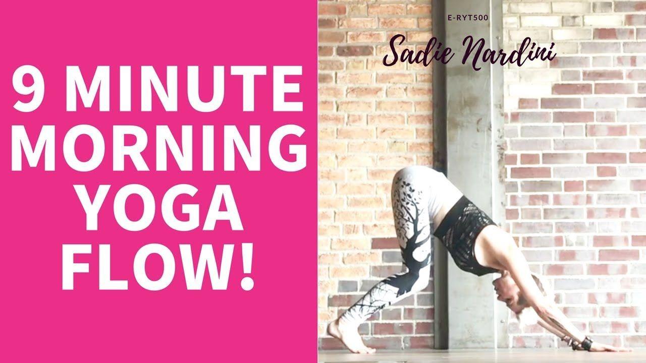 QUICK MORNING YOGA STRETCH   Sadie Nardini - YouTube