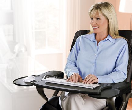 Mobo Chair Mounted Keyboard Tray Ergonomic Workstation
