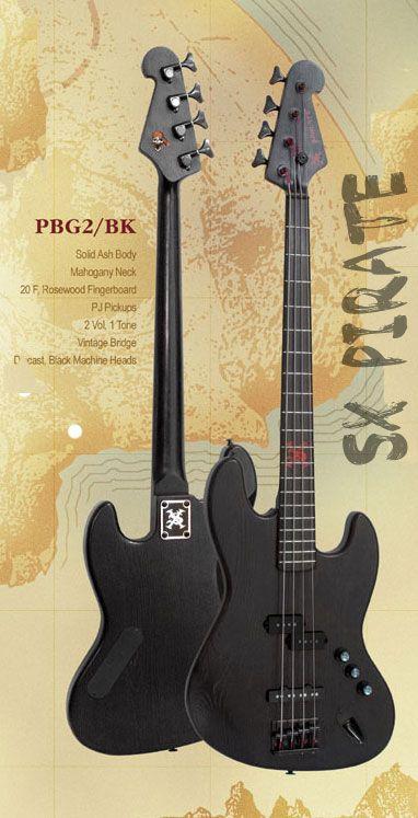 Sx Pirate Bass Bass Bass Guitar Famous Guitars