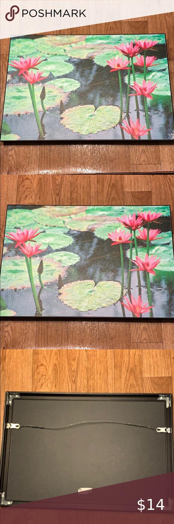 "13X19"" framed canvas painting w/ black metal frame 13X19 inches framed canvas painting with black metal frame. Wall Art"