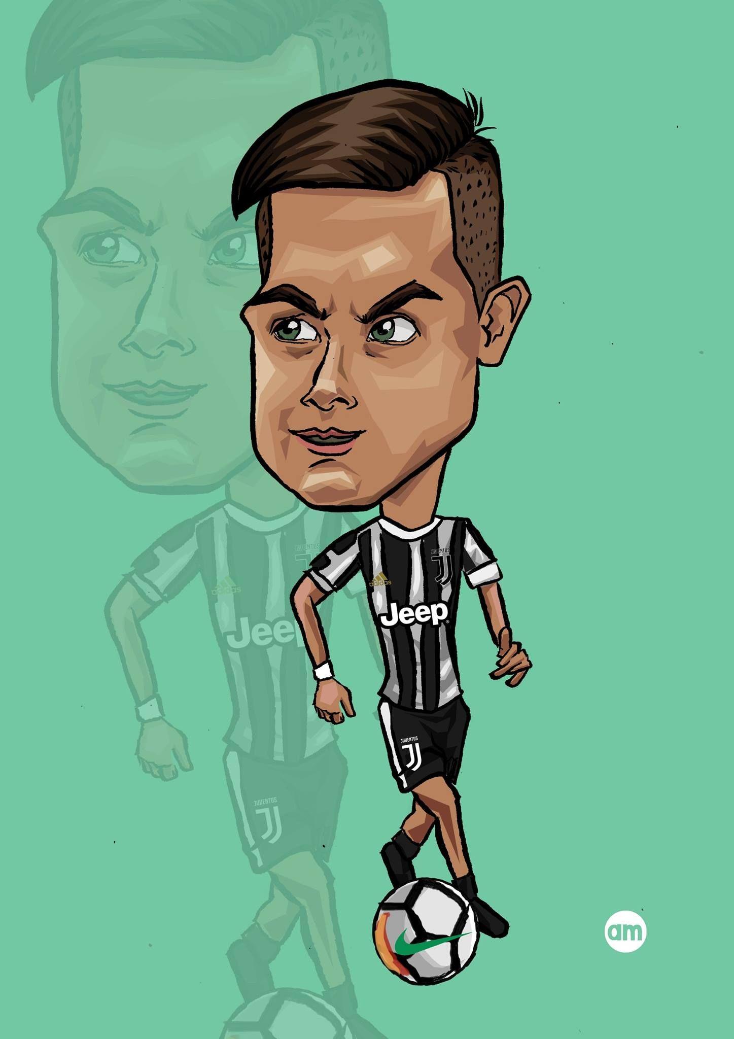 Dybala Juventus Caricature Illustration Disegni Caricature