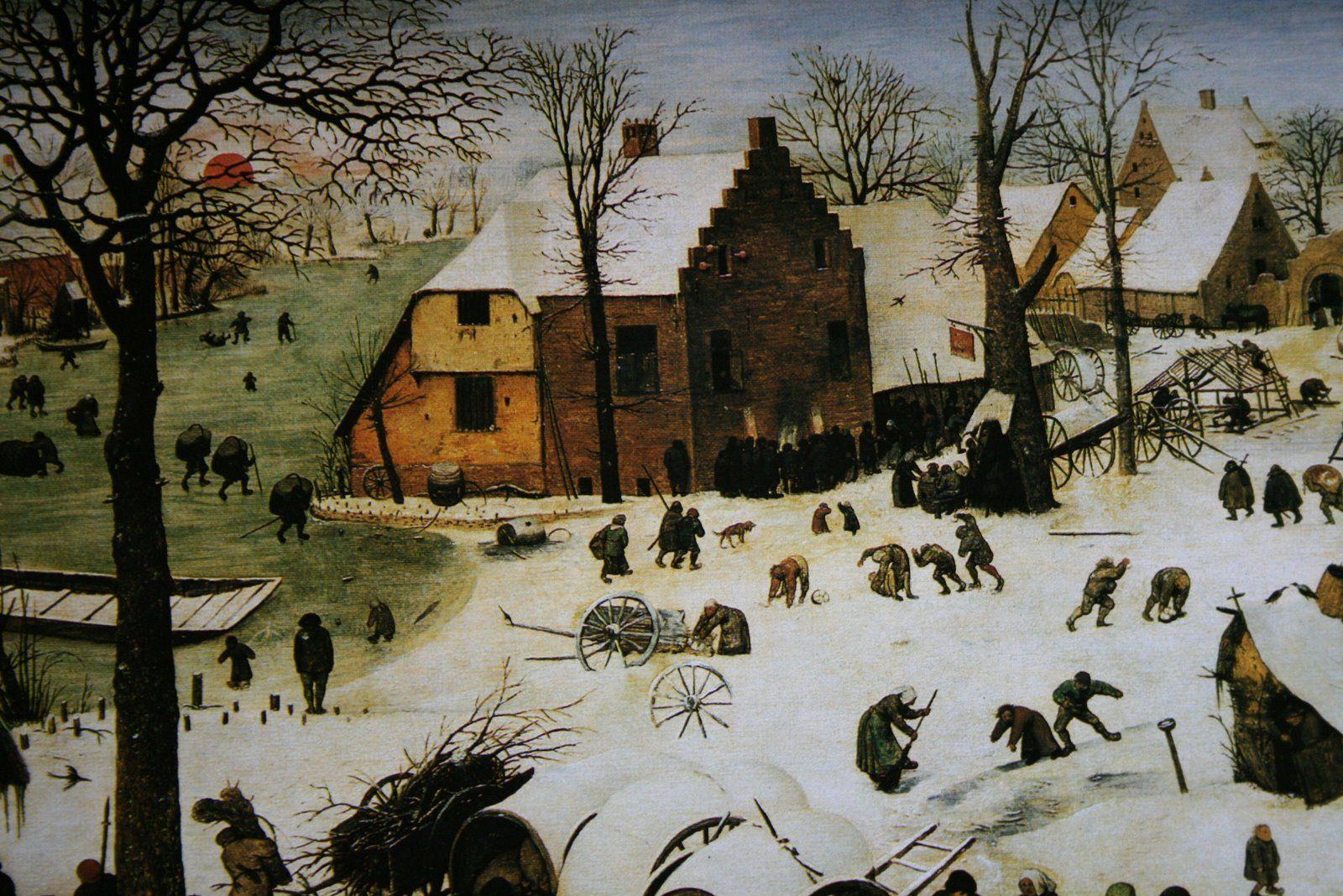 Peter Brueghel 1525-1565  'Recentering El Pueblo'   That Magical Muted Feeling of Snow...