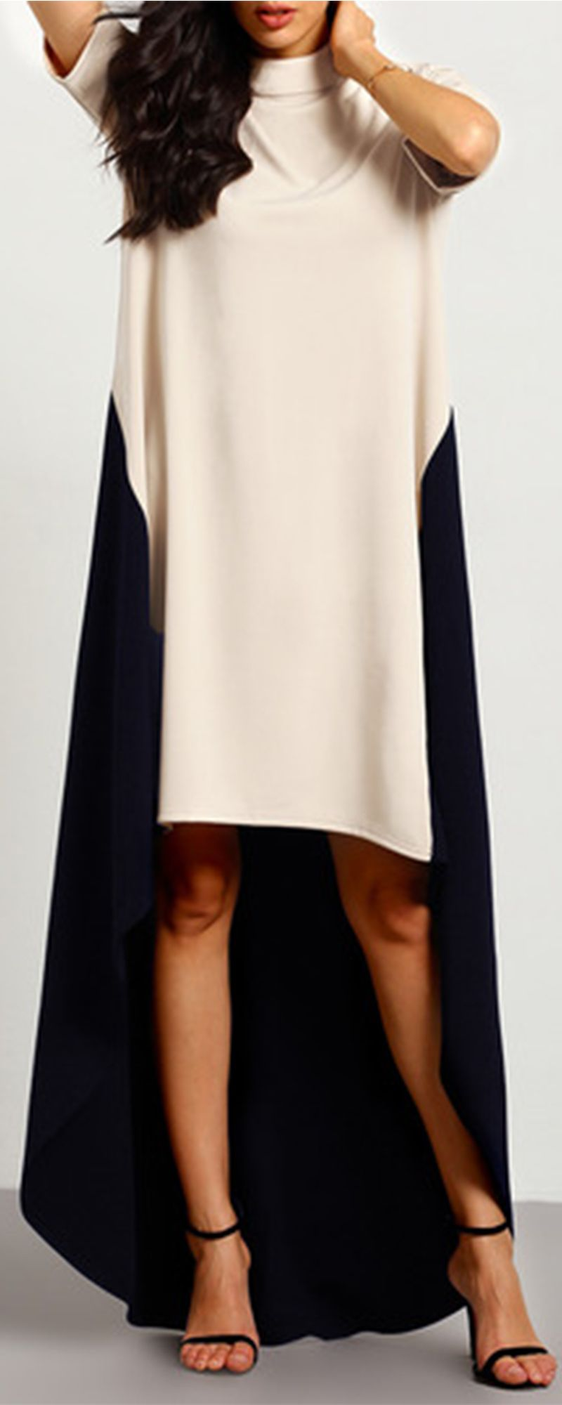 Colorblock dress is always the favorite of celebrity this desinger
