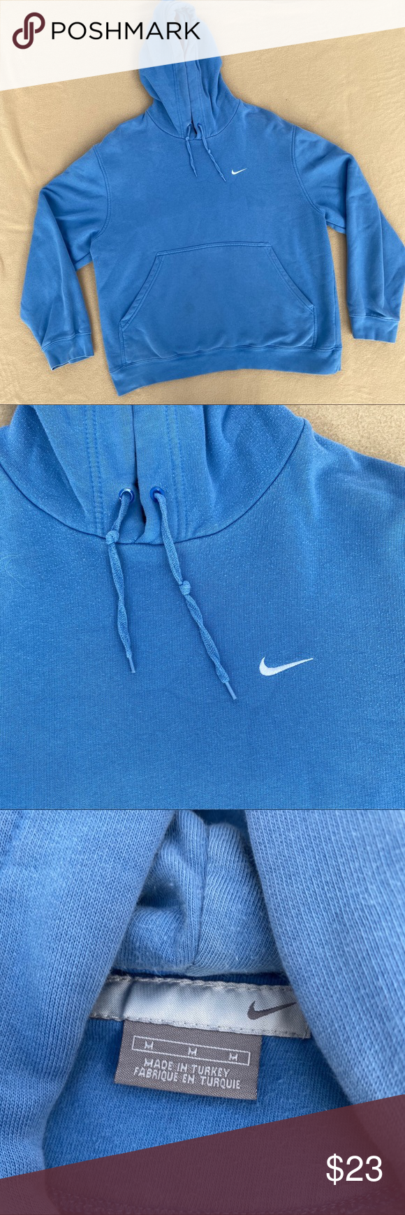 Baby Blue Nike Hoodie Perfect Staple Piece Love The Color And In Great Condition Men S Large Nike Hoodie Nike Hoodie Blue Nike Long Sleeve Tshirt Men [ 1740 x 580 Pixel ]