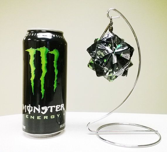 Monster Energy Drink Origami Energy Upcycled By Goraygami Monster Energy Drink Monster Energy Monster