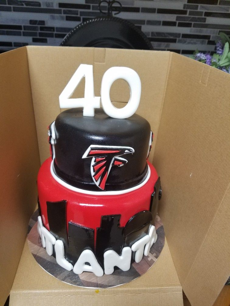 Fine Atlanta Falcons Cake Falcons Cake Atlanta Falcons Cake Cake Personalised Birthday Cards Akebfashionlily Jamesorg