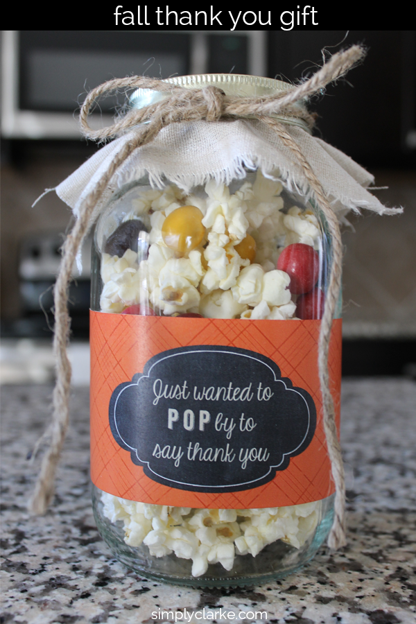 Low Calorie Popcorn Fall Gift Idea | Gifts | Fall gifts ...