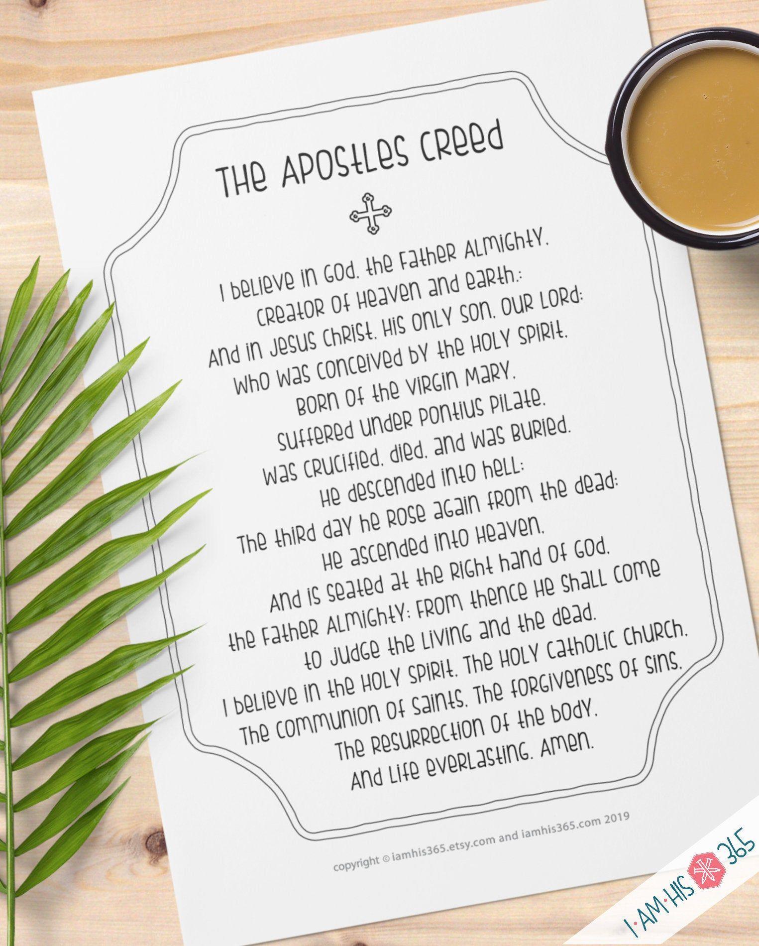 Apostles Creed Prayer Print