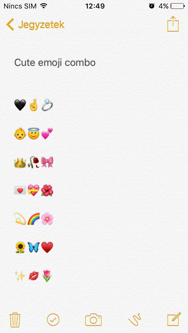 Cute Emoji Combo In 2020 Cute Emoji Combinations Emoji Combinations Instagram Emoji