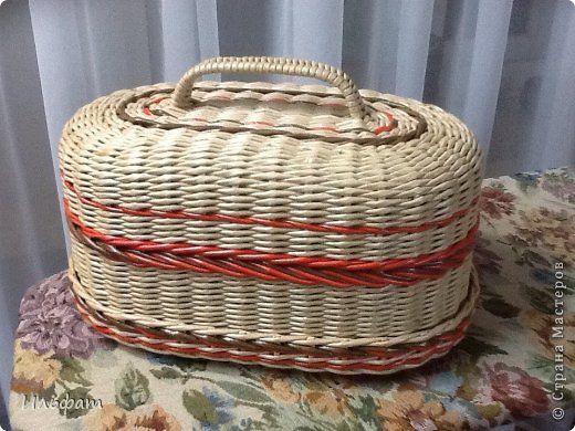 Поделка изделие Плетение На досуге Бумага газетная Трубочки бумажные фото 2