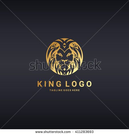 Lion logo. Lion head. Gold version. Logo template suitable for ...
