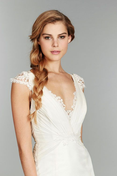 Best Hairstyle For V Neck Wedding Dress : Twirl turns seven discover best ideas about bridal gowns