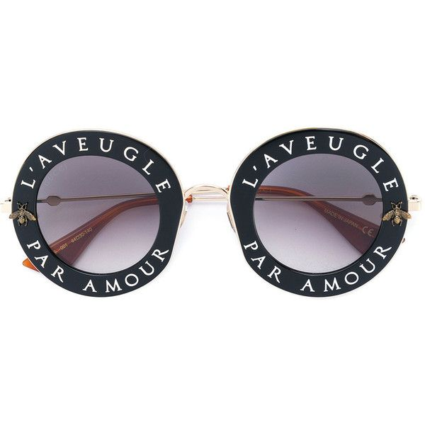 Gucci Eyewear Round-frame metal sunglasses ($690) ❤ liked on ...