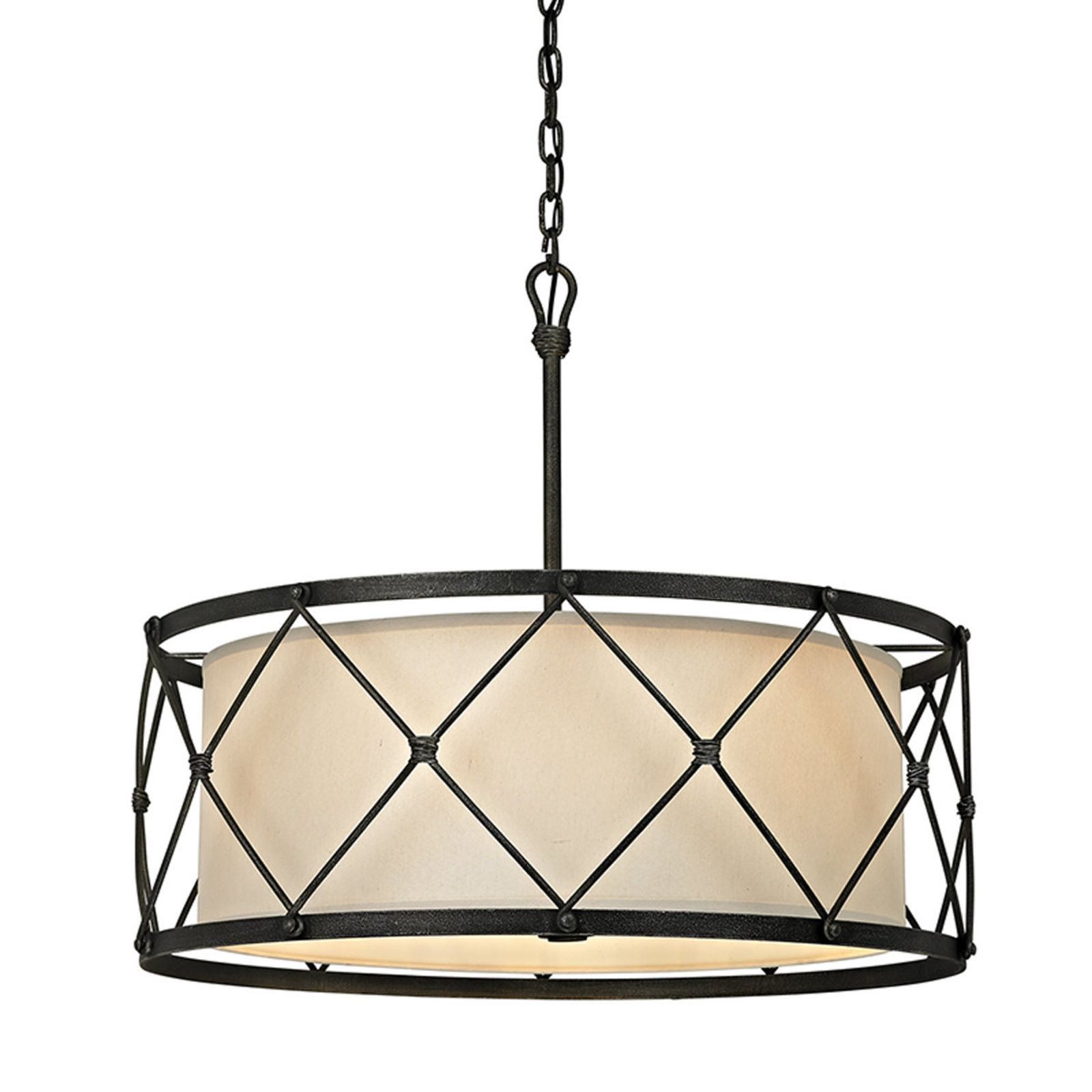 Tied cage drum chandelier 6 lights drum chandelier pewter and check out tied cage drum chandelier 6 lights from shades of light arubaitofo Images