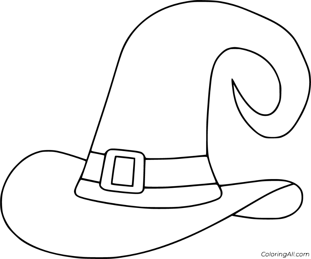 13 Free Printable Witch Hat Coloring Pages In Vector Format Easy To Print From Any Device And Automatically Witch Hat Coloring Pages Halloween Coloring Pages