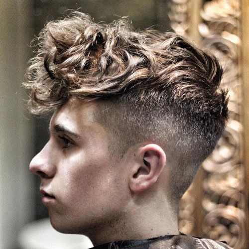 Curly Hair Styles With A Fringe : Hairstyles for teenage guys 2017 boys undercut curly fringe and