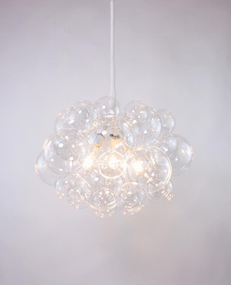 The 31 Bubble Chandelier 22 Diameter Custom Chandelier Led Lighting Dining Room Chandelier Ceiling Light Bubble Light Bubble Chandelier Custom Chandelier Bubble Lights