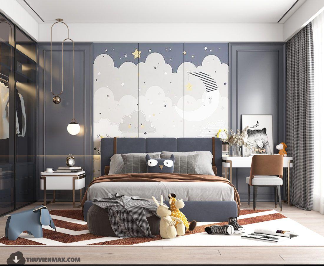 3d Model Interior Children Room 3 Free Download By Huyhieulee Kids Interior Room Kids Room Interior Design Modern Kids Bedroom Interior design youth bedroom