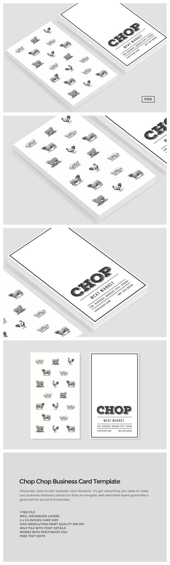Chop chop business card template by the design label on chop chop business card template by the design label on creativemarket reheart Images