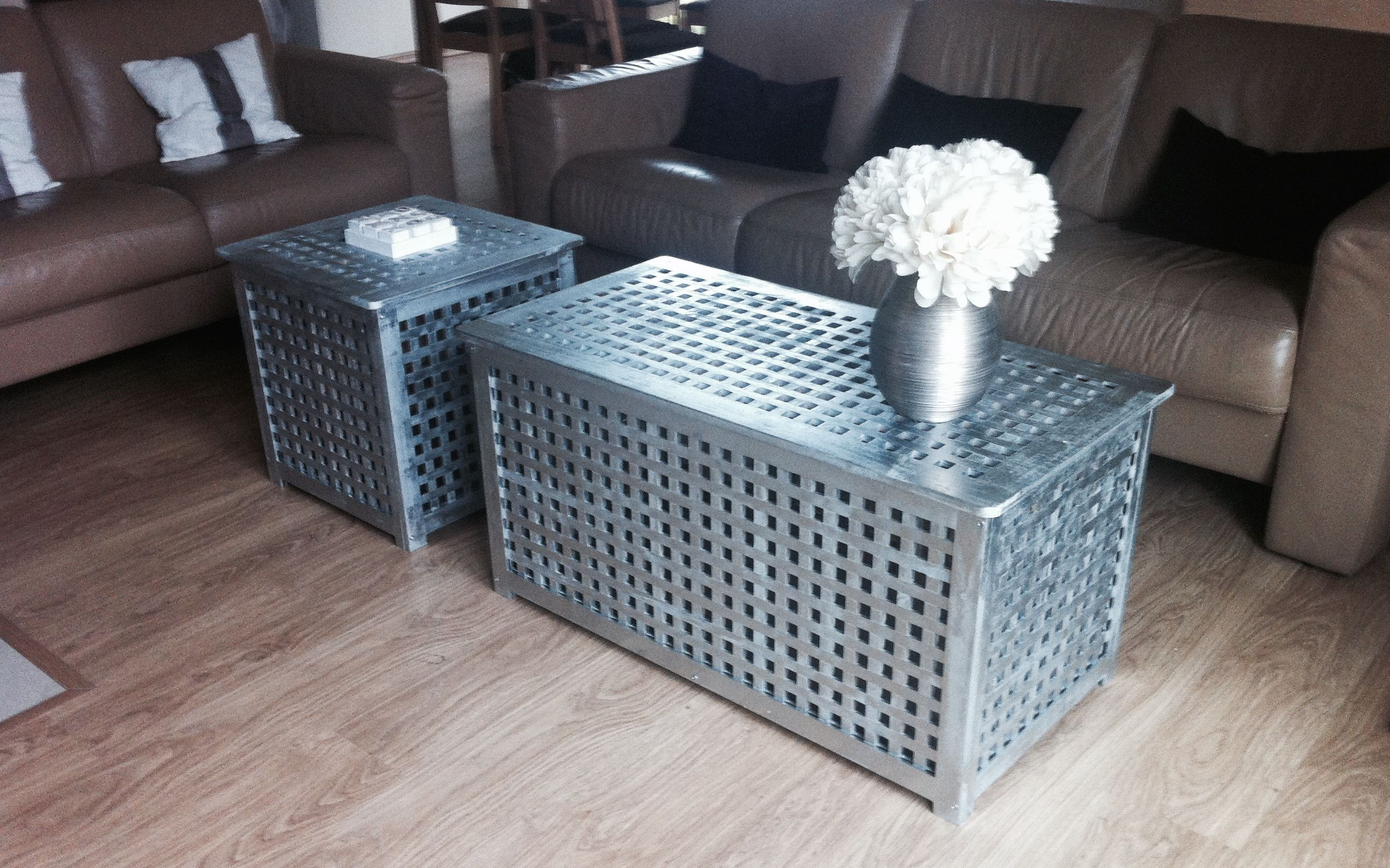 Ikea Hol Coffe Table Covered With Silver Metallic Paint Ikea Patio Furniture Ikea Patio Furniture Hacks [ 1936 x 2592 Pixel ]