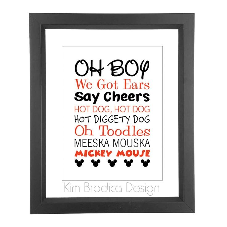 Mickey Mouse Clubhouse Mickey Quotes 8x10 Digital Print