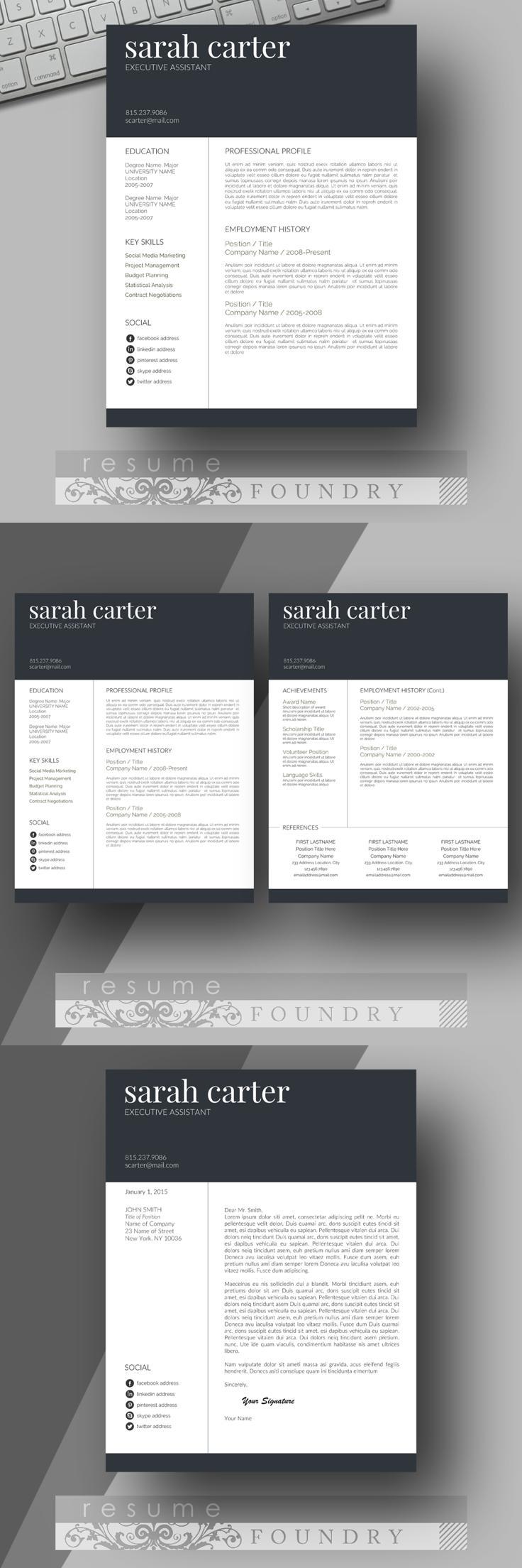 Certificate Resume templates, Modern resume template