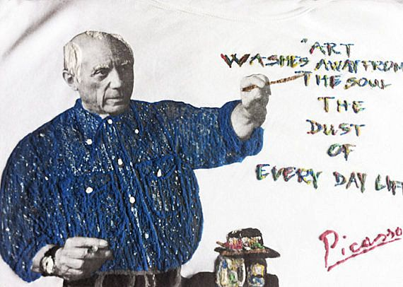 PABLO PICASSO shirt  Tshirt Art T-shirt Painting Picasso by Quor
