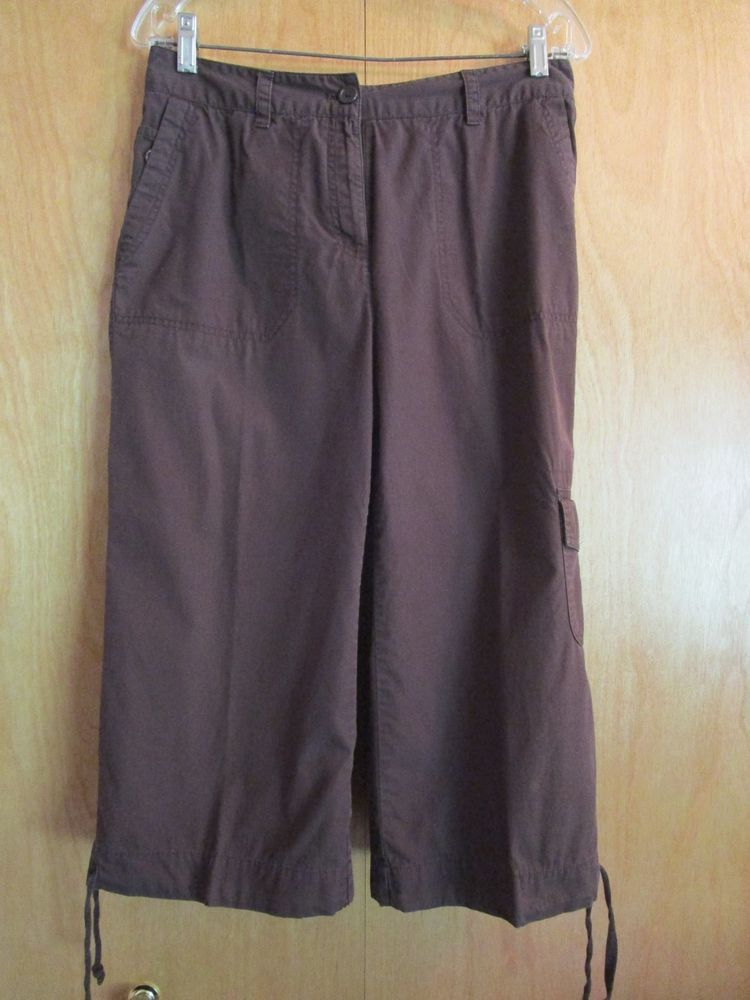 Women S Brown Capri Pants Size Small By Basic Editions Fashion Clothing Shoes Accessories Womensclothin Brown Capri Pants Clothes For Women Capri Pants