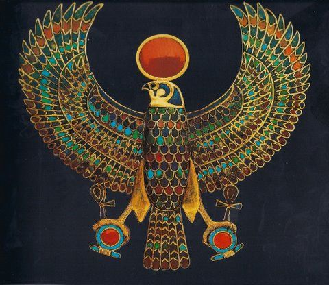 Kemetic God Heru    shown as an example of the Plagiarized