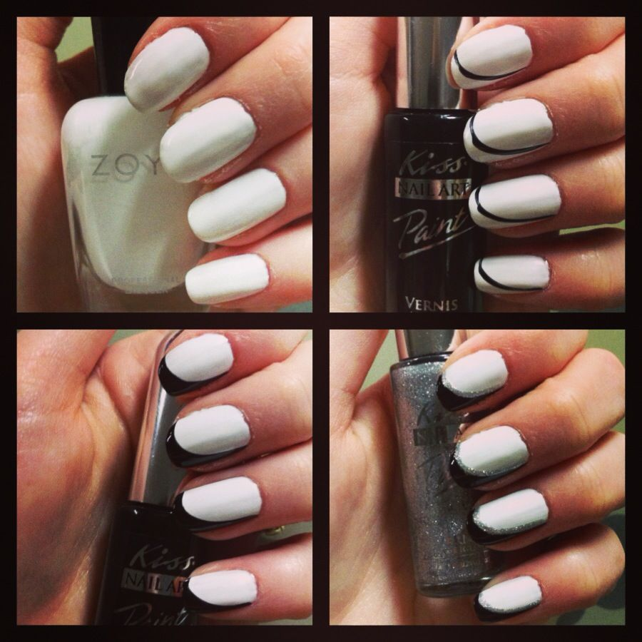 Thin French Manicure Photo Cool Nail Design Ideas
