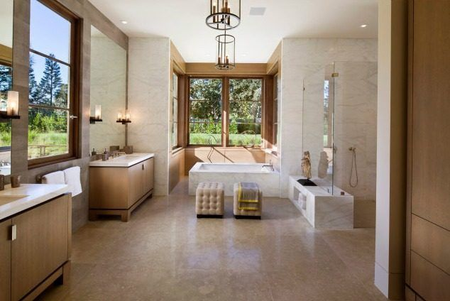 Large Bathroom Designs Impressive 22000 Sqftatherton Mansion Hits Market For $318 Million Decorating Inspiration