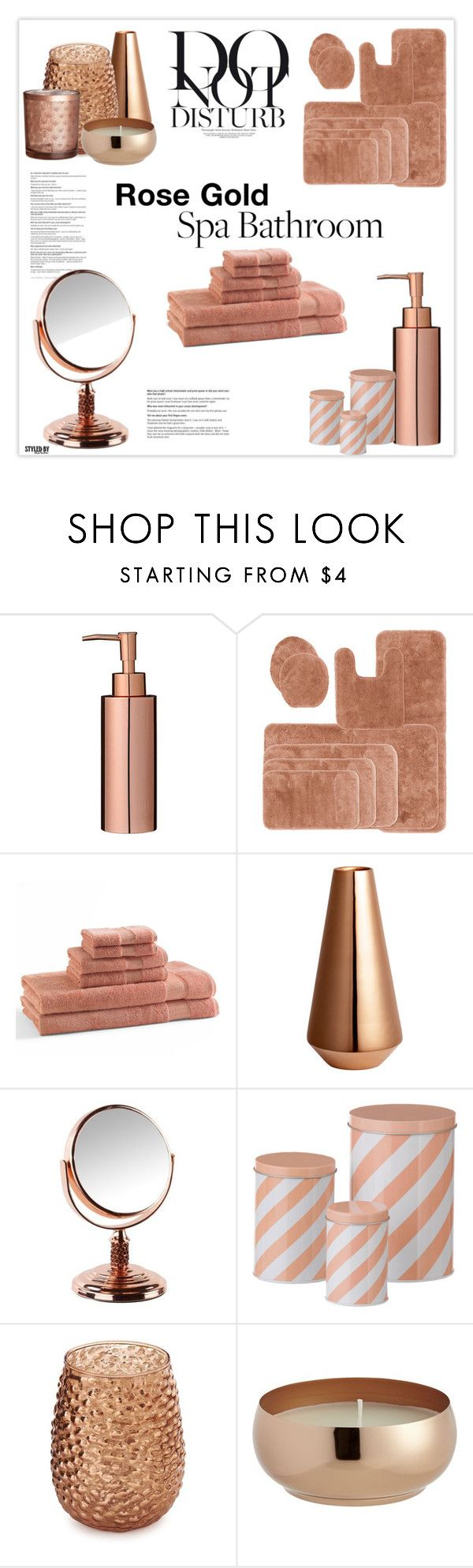 Rose gold bathroom decor by marion fashionista diva miller ❤ liked on polyvore featuring interior interiors interior design home home decor