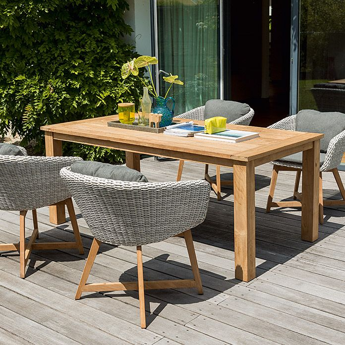 Sunfun Elements Noemi Dining-Set (Holztisch Noemi, Diningsessel ...