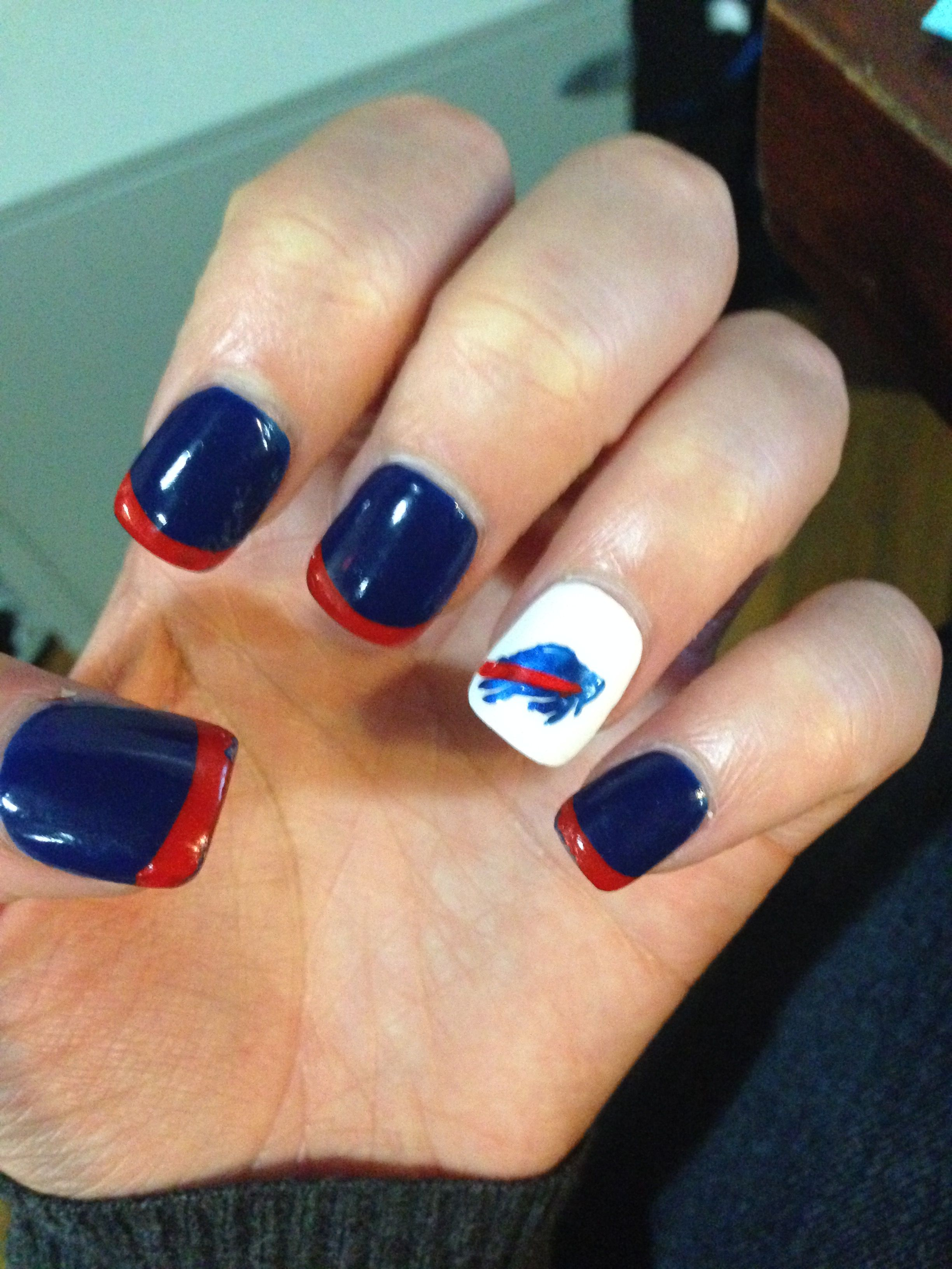 Buffalo bills nails | hehe | Pinterest