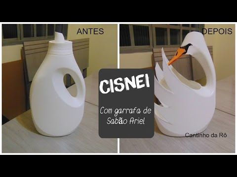 youtube tutorial mach einen schwan aus waschmittel flasche plastik ideen pinterest. Black Bedroom Furniture Sets. Home Design Ideas