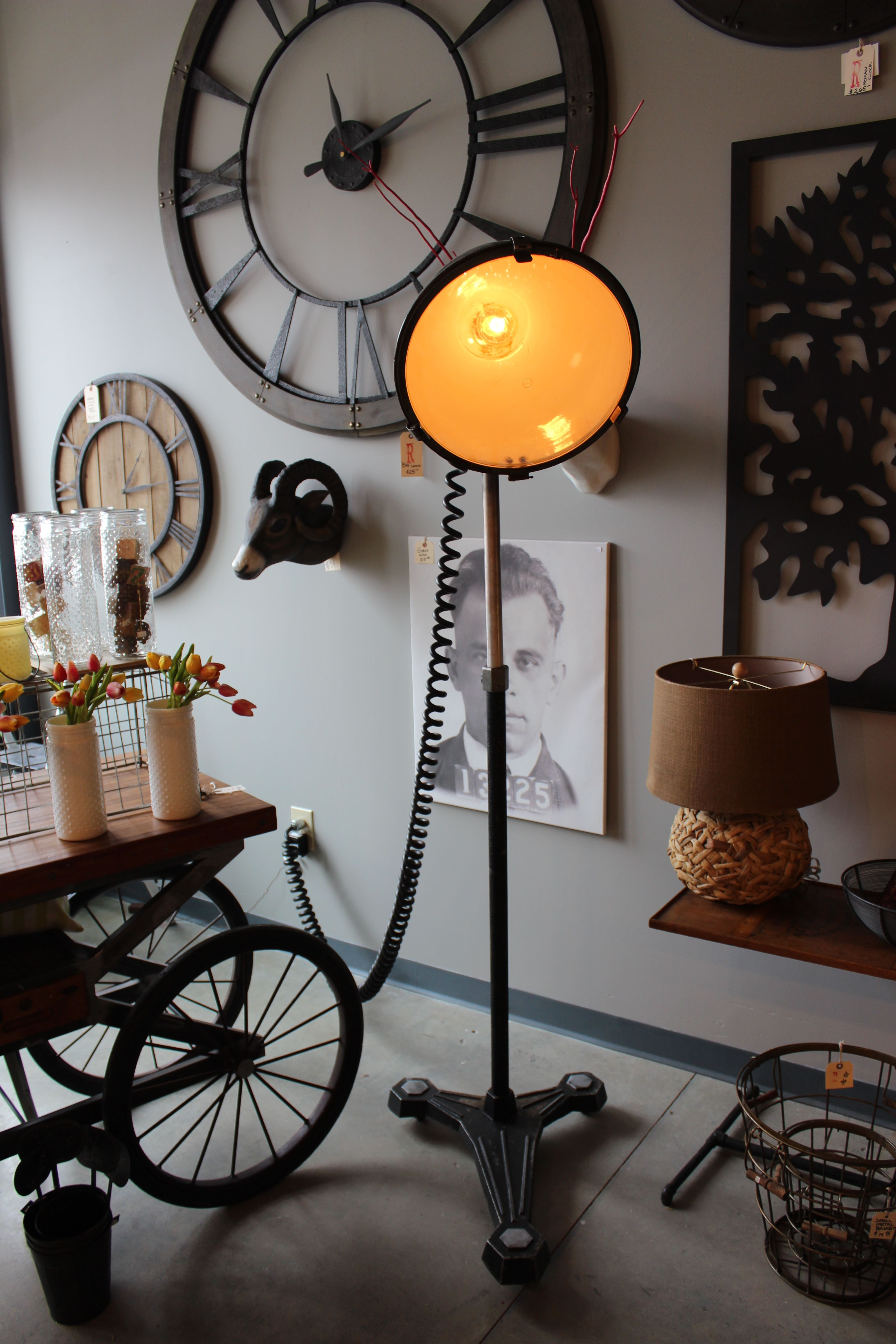 adjustable industrial floor lamp by rogue decor co. lamp part is ...